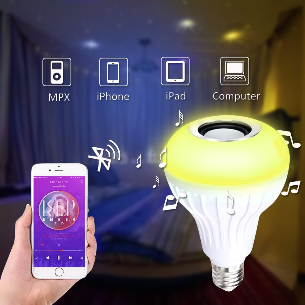 Amteker LED Glühbirne mit Bluetooth Lautsprecher
