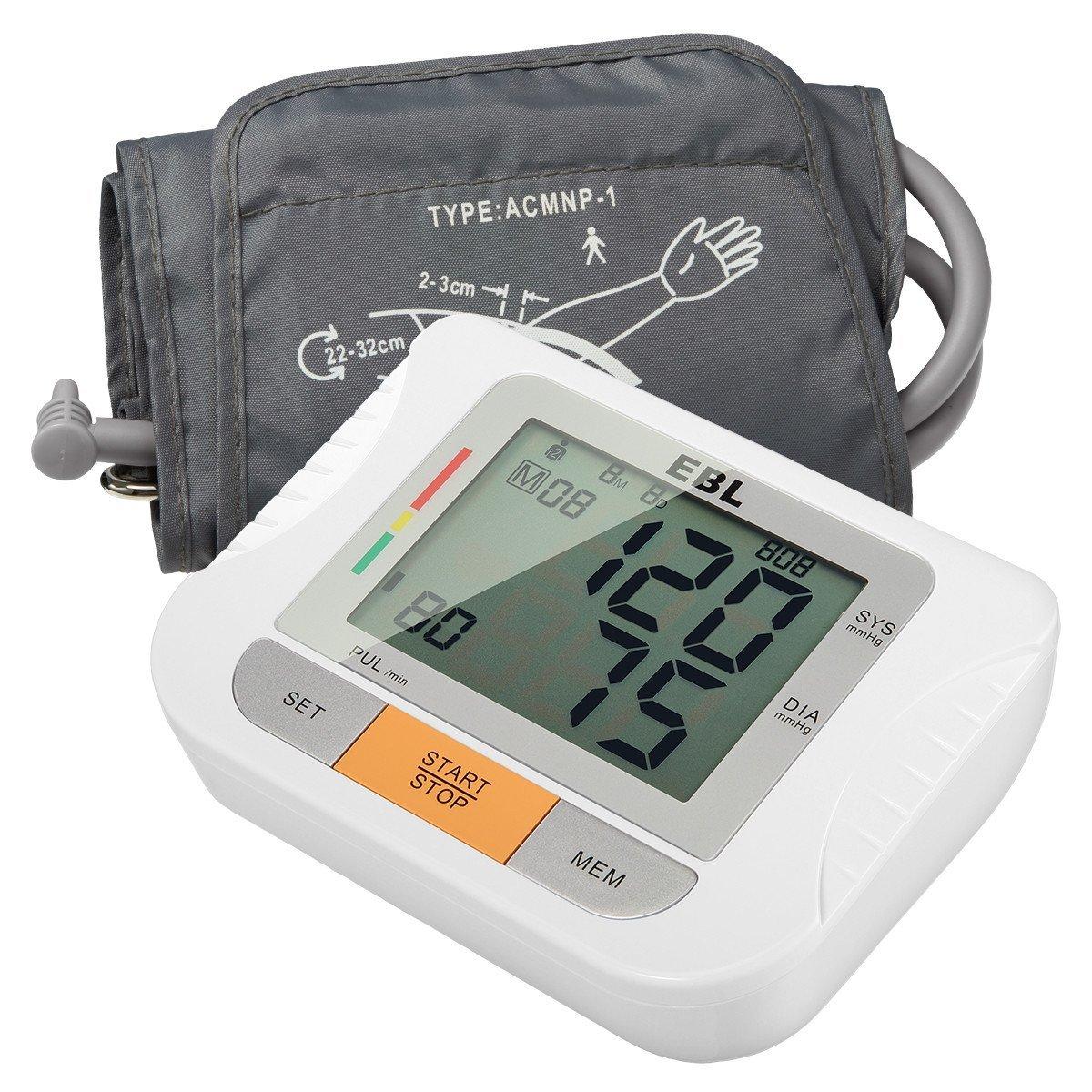EBL Oberarm Blutdruckmessgerät mit Digitales LCD Display