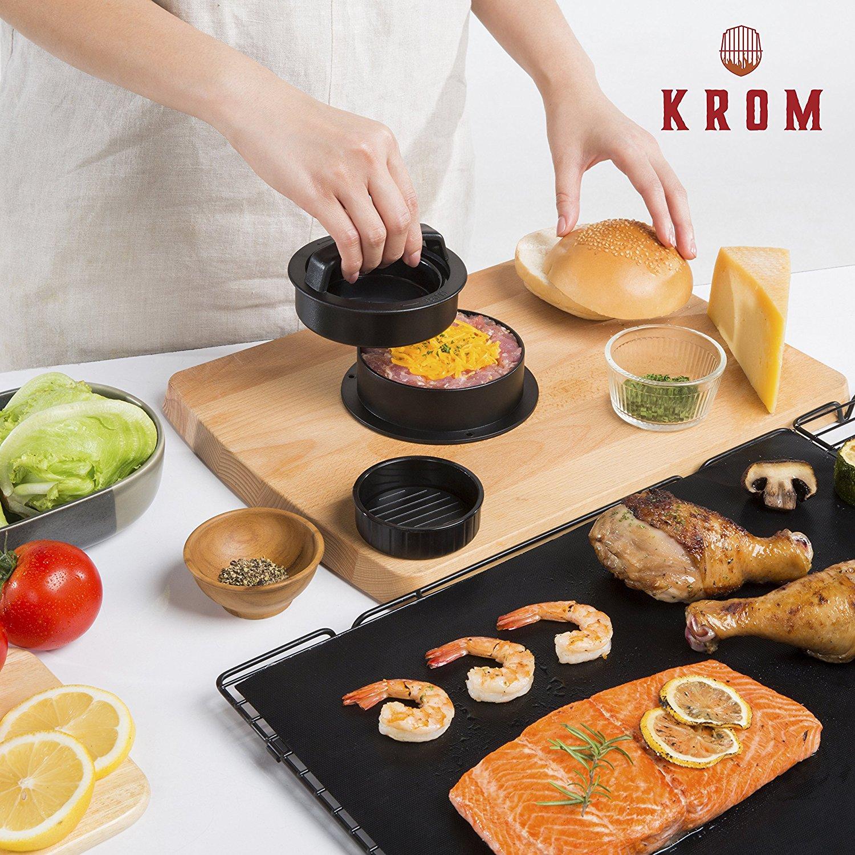Burgerpresse Kit mit Grillmatte