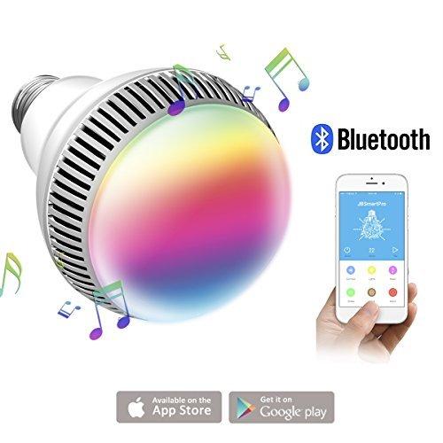 morpilot Smart Bluetooth Musik Leuchtmittel, E27 dimmbar