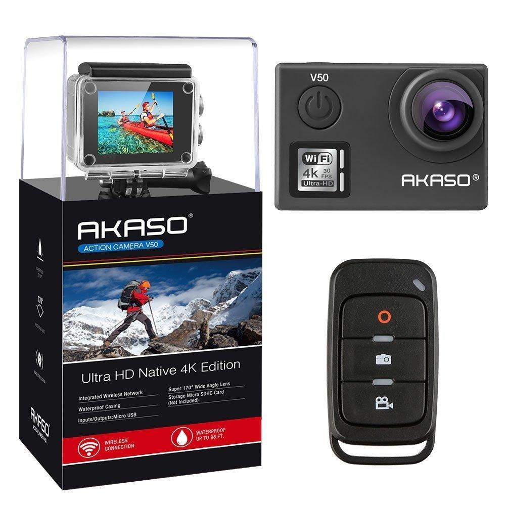 AKASO V50 Real 4K/30fps 20MP Action Cam WiFi Action Kamera mit Bildstabilisierung