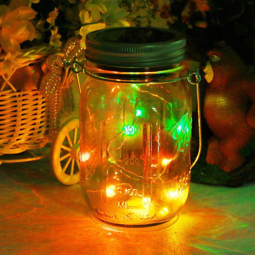 Mason Jar Licht Solar LED Glas Hängeleuchte