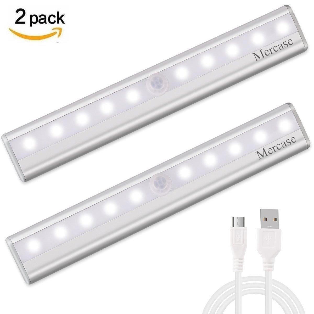 Mercase Schrankbeleuchtung LED Nachtlicht mit Bewegungsmelder