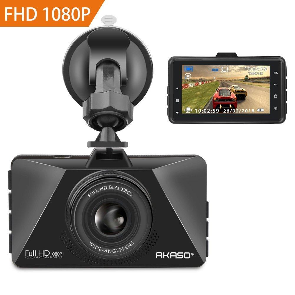 AKASO Full HD Dashcam Autokamera C200 ultra 1080P mit 3 Zoll LCD Bildshirm