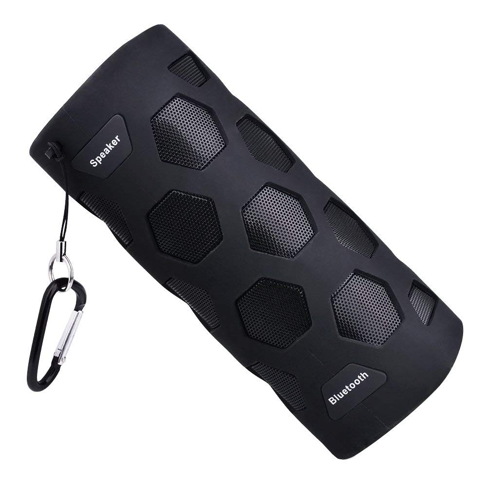 ECANDY Wasserdichter Bluetooth Lautsprecher IP65 Musikbox Staubdicht und Stoßfest 4000mAh Power Bank