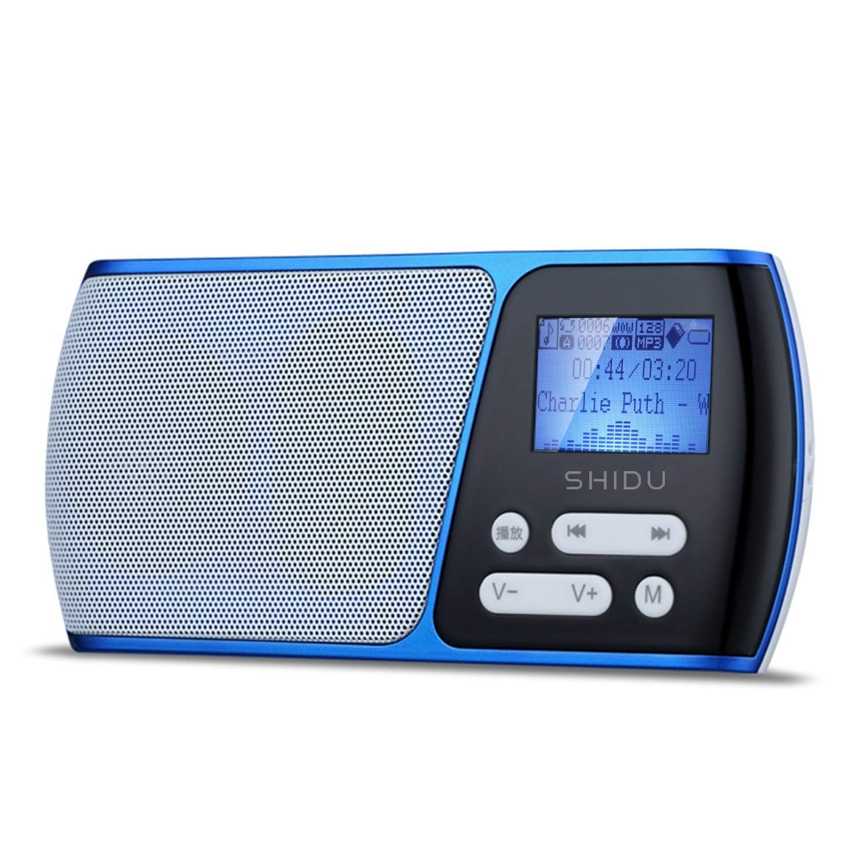 SHIDU klein FM Radio Tragbare TF-Karte/USB-Disk / MP3 / FM-Radio mit LED-Textanzeige